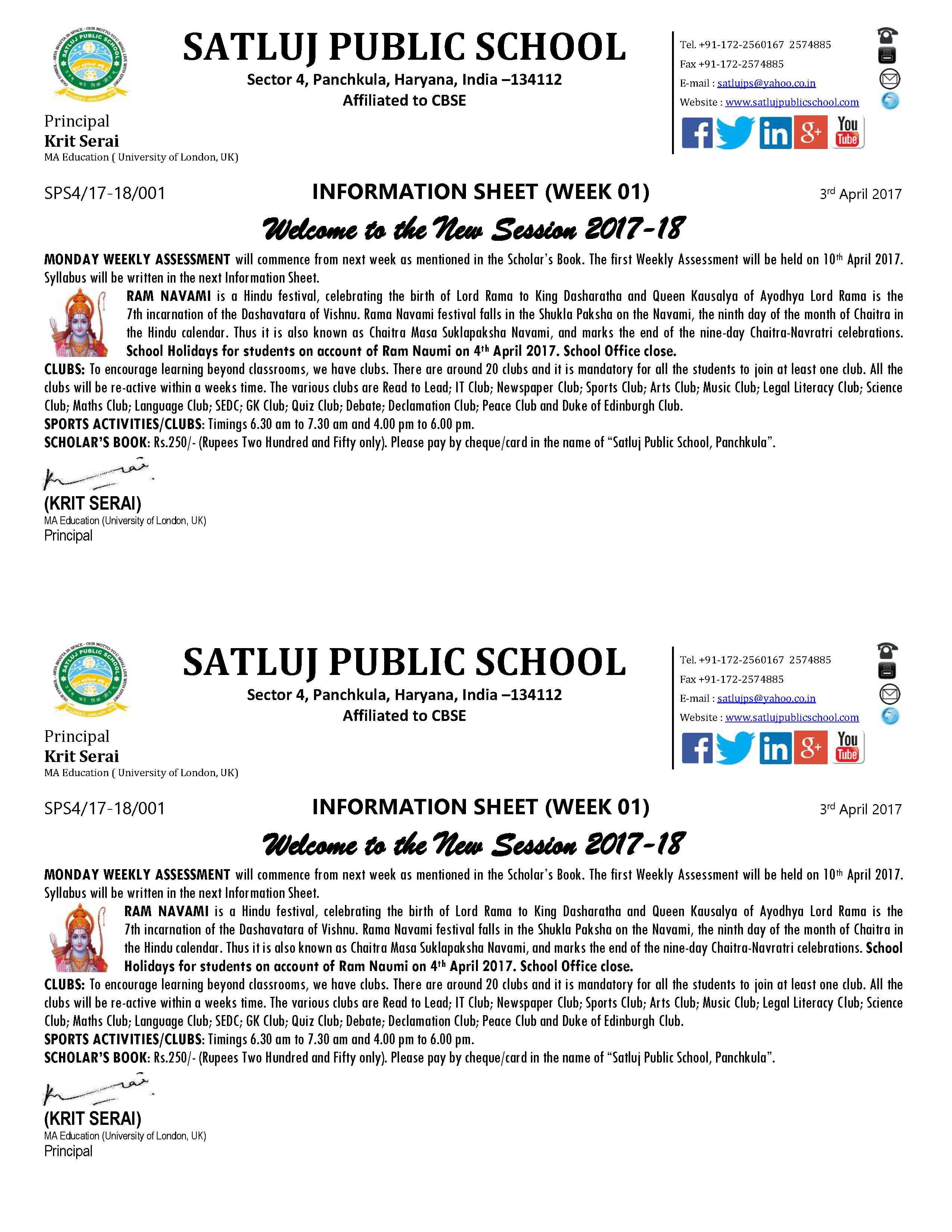 Information Sheet 20171