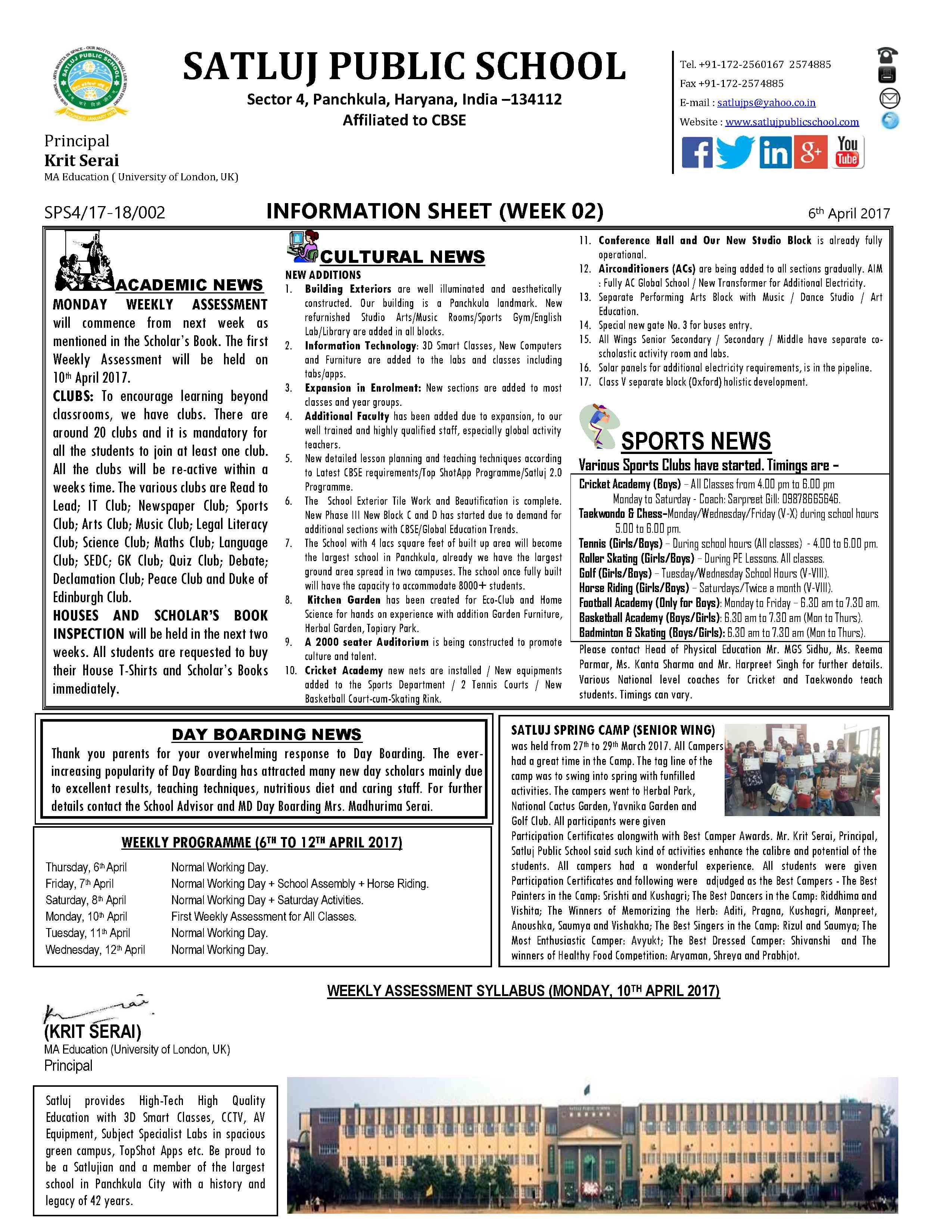 Information Sheet 20172