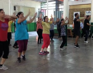 Fitness workshop held in junior wing of Satluj Public School