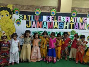 Junior Satlujians celebrated Janamashtami