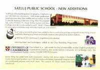 Satluj Public School New Additions