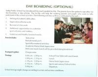 Day Boarding