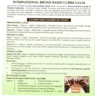 International broad based curriculum