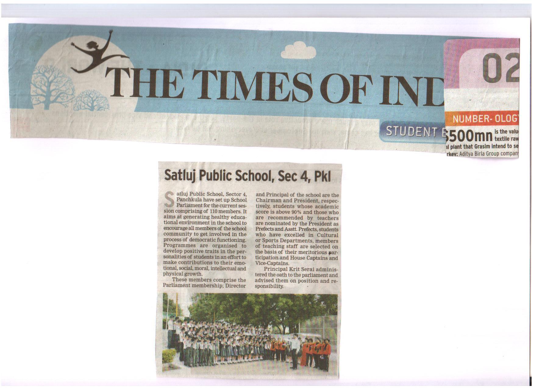 Satluj set up School Parliament