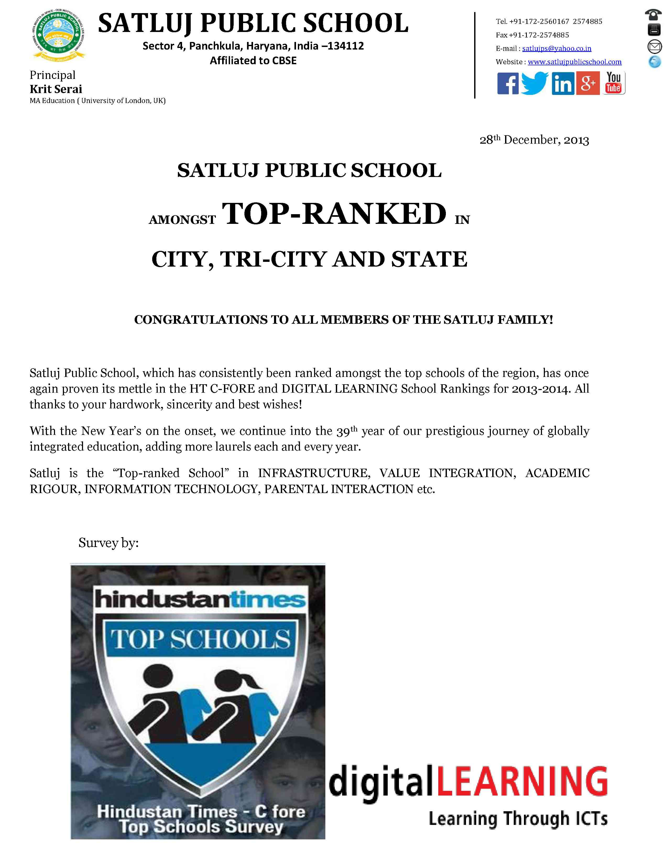 satluj topped ranked1