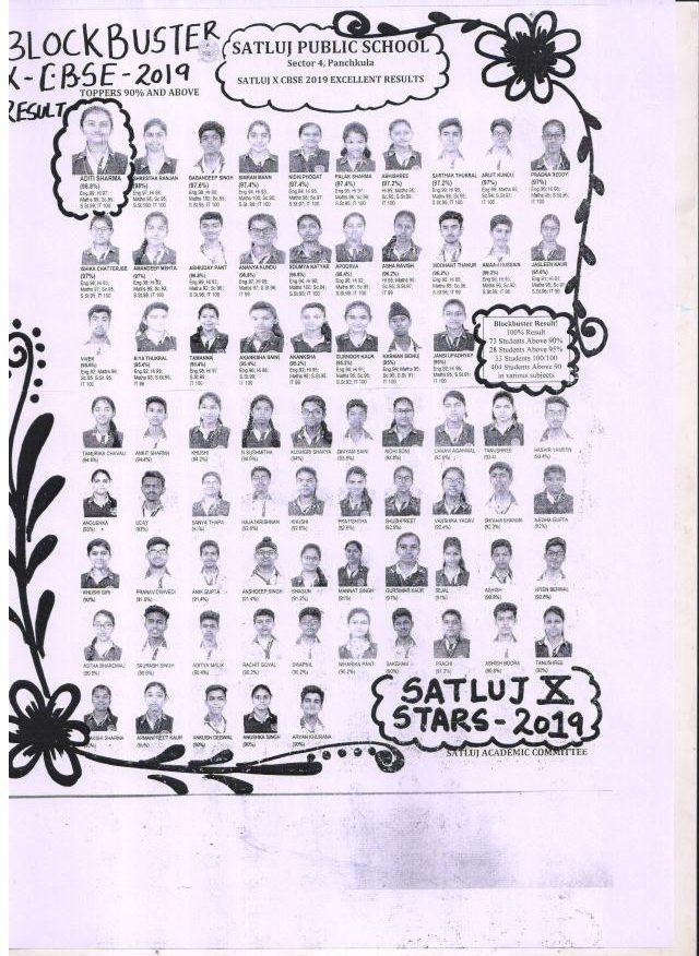 EXCELLENT CBSE RESULT 2019 | Satluj Public School